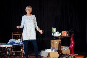 Ginny Davis plays nine characters in the play. Picture: David Clarke Photography