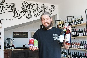 Tom Flint at Bottle and Jug Dept, shortlisted for Newcomer of the Year in the Drinks Retailing Awards 2019. Picture: Derek Martin DM1851291a