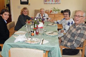 Jo King with, from left, great-granddaughter Lily, granddaughter Michelle, daughter-in-law Janet and son Garry