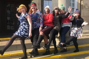 Wear a Woolly Hat Day at Worthing Town Hall