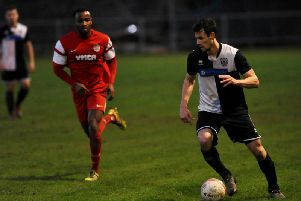 Asa Nicholson struck as East Preston suffered a surprise defeat against Eastbourne Town. Picture: Stephen Goodger
