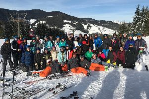 The Worthing College and East Sussex College students during their recent ski trip to Austria