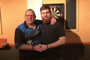 Scott Williams (right) with organiser Chris Fletcher.