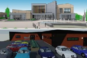 The new cinema and Reach for Health buildings were given planning permission this week