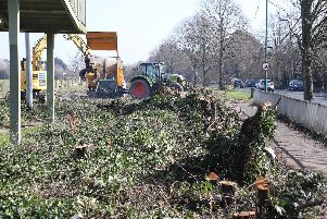 Works ahead of the widening of stretches of the A259 have begun