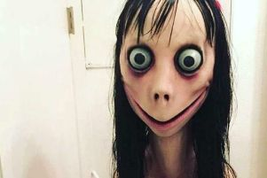 The scary  'Momo Challenge' image