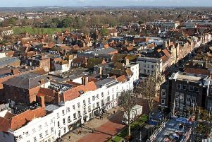 DM1822213a.jpg. View from the roof of Chichester Catherdral. Photo by Derek Martin Photography. SUS-180216-171401008