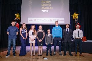 Excellent in Sport winners at Rugby Sports Awards 2018 presentation evening at the Benn Hall