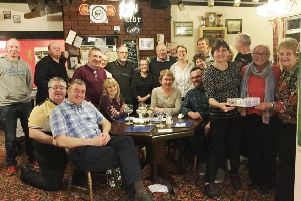 The Railway Tavern held the cheque presentation night last month.