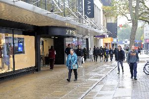 Commercial Road, Portsmouth, near where the attack took place