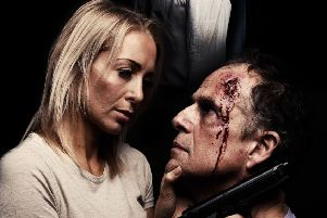 Victoria Thompson and Chris Parkes in Death and the Maiden with Southwick Players