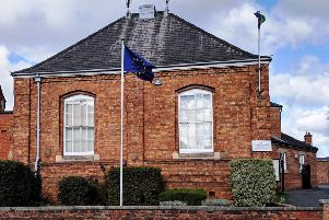 The European Union flag was spotted outside The Sessions House in Louth on Monday morning (March 11).