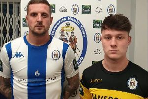 Kenny Pogue and Cameron Tutt. Picture courtesy of Haywards Heath Town