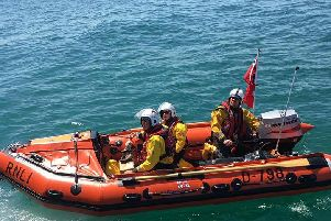 The lifeboat at sea. Photo: Shoreham RNLI