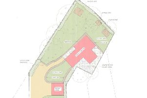 Layout plan for Burgess Hill home in the back garden of Chippendale, in Gatehouse Lane