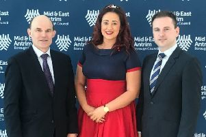 Roy Beggs MLA (election agent), Lindsay Millar and Andrew Wilson.