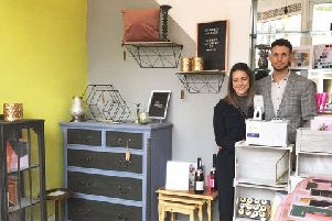 Alice and Danny in the new shop