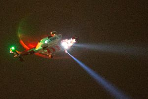 A missing person off the coast of Worthing sparked a large-scale emergency response last night