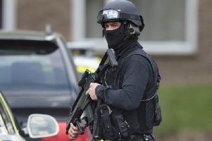 A stock image of armed police