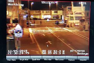 CCTV of the time police were at Worthing level crossing in South Farm Road. Pictures: Sussex Police