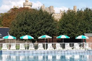 Arundel Lido has Arundel Castle as the backdrop