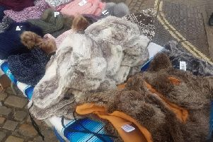 Library image of real fur at Aylesbury market