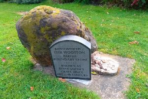 'Betsy Smith's grave' has been damaged. Photo submitted.