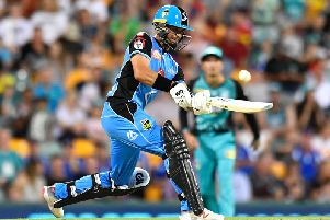 Jake Weatherald in action for the Adelaide Strikers