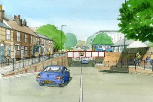 Proposed underpass to replace the Basin Road level crossing (photo submitted).