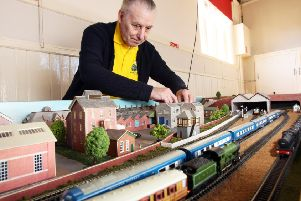 Dave Vincent at the Sompting and District Model Railway Club open day in September. Photo by Derek Martin DM1894219a