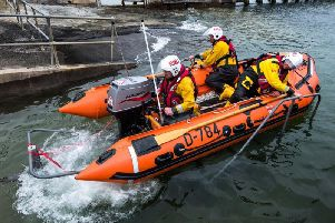The Shoreham RNLI's lifeboat was called out yesterday