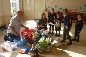 Lyndhurst Infant School hosted a pop-up recycling event