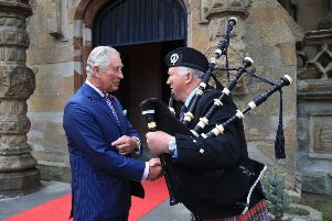 RETRANSMITTED WITH CORRECT  CAPTION''The Prince of Wales during his visit to Brownlow House, Lugan, on the second day of his tour of Northern Ireland.  PRESS ASSOCIATION Photo. Picture date: Wednesday May 22, 2019. See PA story ROYAL Tour. Photo credit should read: Owen Humphreys/PA Wire
