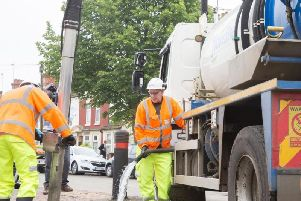 A drain-clearing operation was carried out in St Leonard's Road, Far Cotton in 2018 following extensive flooding