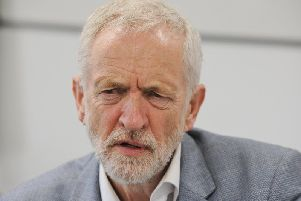 Labour leader Jeremy Corbyn was at a lunch in Lancing today