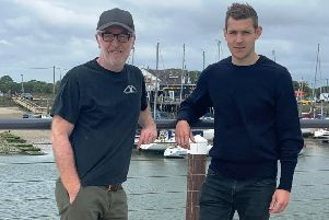 Rob Baker from Boatyard Community Craft House with Arundel Brewery owner Stuart Walker, left