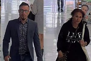 CCTV released after two pensioners in their 80s were targeted by thieves who stole 1,000 from the victims in Fareham Shopping Centre. Picture: Hampshire police