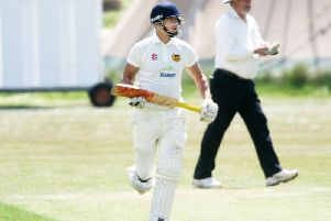 Felix Jordan struck 87 not out as Findon progressed in the National Village Cup. Picture by Derek Martin