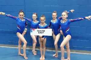 Wickers Gymnastics Club had two members represent the south east region in a national event