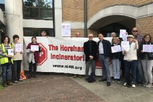 Protesters fighting plans to build an incinerator in Horsham