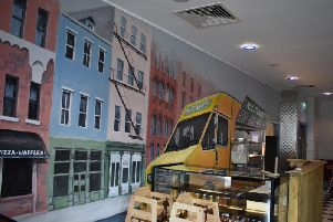The most prominent change to the restaurant is the new mural, painted by a Birmingham-based artist.