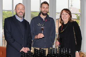 Pictured at the Robb Brothers Wine Merchants launch of Peter Lehmann Wines at the Yellow Door Restaurant in Hillsborough Castle are, from left, Glenn McGarry, Robb Brothers Wine Merchants, Tim Dolan, Peter Lehmann Wines and Norma Rompante, Robb Brothers Wine Merchants.