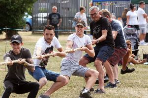 The tug of war at last year's family fun day, organised by Jamie's Wish Trust. Picture: Derek Martin DM1873589a