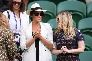 The Duchess of Sussex at Wimbledon. Courtesy of Getty Images