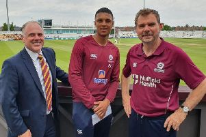 Emilio Gay has been given a professional contract at Northants