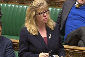 Lewes MP Maria Caulfield  in the House of Commons