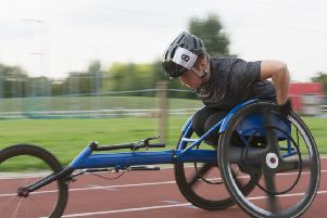 Wheelchair racer Lizzie Williams from Worthing has launched a career comeback and is looking for businesses to sponsor her. Picture: Martin Barraud