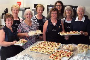 Some of the ladies who provided an excellent Country Supper for the large crowd who supported the sixth annual Drumbo Vintage Car & Tractor Run