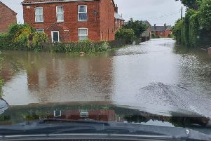 Hundreds of homes were evacuated in Wainfleet last month as a result of flooding,