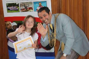 Mayor of Boston Coun Anton Dani attended a Special Olympics event..
